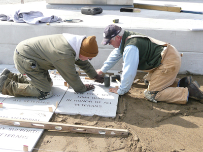 building the freedom flag monument